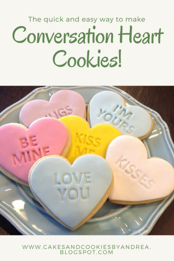 Conversation heart cookie Pin